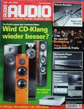 """Audio 7/2008 - Report: """"Loudness-era"""", Linn Sneaky, Phono-preamplificador,..."""