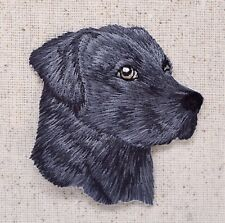 Black Lab Head Puppy/Dog Labrador Retriever Iron on Applique/Embroidered Patch