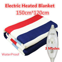 Queen Size Electric Heated Flannel Blanket Warm Winter Cover Heater + Controller