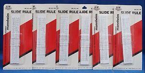 A&W Tru-Bilt Mannheim Slide Rule Teacher Set of 10  Professional Accuracy 522-CB