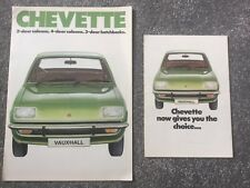 Vauxhall Chevette 1976-77  E L GL GLS Saloon Hatchback brochure +A5 brochure