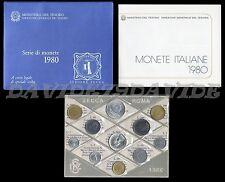 REPUBBLICA ITALIANA - SERIE DIVISIONALE UFFICIALE ITALIA LIRE MONETE 1980 - FDC