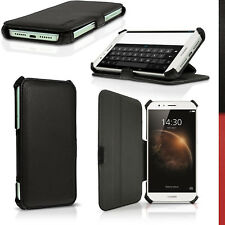 Pu cuero funda carcasa piel para Huawei G8 cubierta soporte cover Prot pantalla negro