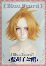 My Boku no Hero Academia Kaminari Denki Short Golden Cosplay Costume Hair Wig