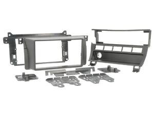 Pour BMW 3er E46 Diaphragme Autoradio Montage Installation Cadre Double-Din Noir