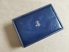 "Eberhard & Co. Rare vintage scafograf 300 leather blu box ""Swiss made"" in used c"