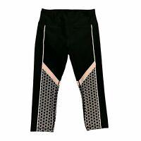 RBX Capri Leggings Women's Size M Rubber Textured Design Stretch Workout Pants