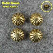 4pcs Brass Leathercraft Bag Rivet Stud Punk Screw Bag Conchos Wallet Buckle