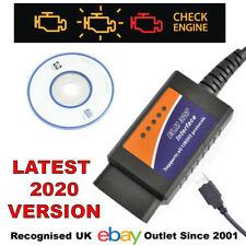 ELM327 OBD2 USB Diagnostic tool SCANNER RESET Engine Light with SOFTWARE Disc UK