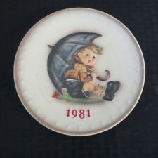 Goebel Hummel Annual Plate 1981 Umbrella Boy