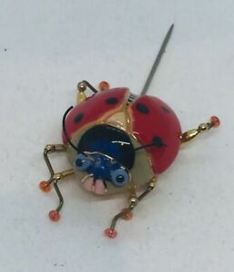 Cynthia Chuang Vintage Ceramic Figural Ladybug Pin