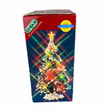"""Lemax Christmas Village Lighted 6"""" Tree Fade In Fade Out Top. SEE VIDEO!"""