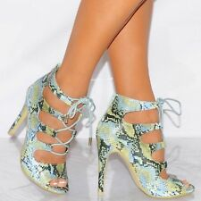 Leather Party Animal Print Heels for Women