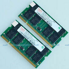 Hynix 2GB 2X 1GB PC2700 333 MHz 200pin DDR 2G Laptop SO-dimm Memory RAM Notebook