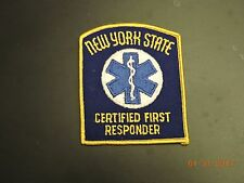 NY New York State First Responder EMS EMR Medical Patch #8