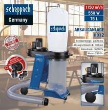 Scheppach Absauganlage HD12 Späneabsaugung Sägen Schleifen 550W 75L 1150m€/h