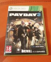 XBOX 360 GAME PAYDAY 2 NICE CONDITION WITH MANUAL 4 PLAYER CO-OP SHOOTER