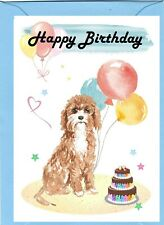 "Cavapoo / Doodle Dog (4""x 6"") Birthday Card with blank inside - by Starprint"