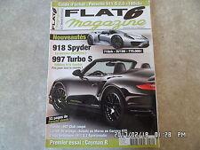 FLAT 6 N°242 04/2011 PORSCHE 918 SPYDER 997 TURBO S CAYMAN R GUIDE ACHAT 911 K37