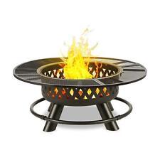 Brasero Barbecue Foyer 120cm Chauffage exterieur Feu camp Convertible en table