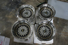 "JDM CHROME RS Style 15"" pcd114.3 pcd100x4 wheels ae86 Z31 miata mx5 eg6 bbs z30"