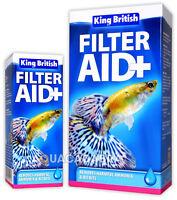 KING BRITISH FILTER AID SAFE WATER FISH TANK AQUARIUM NITRITE AMMONIA TREATMENT