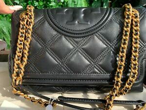 Tory Burch Fleming Soft Quilted Convertible Crossbody Shoulder Bag Authentic