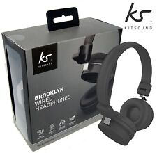 KitSound Headphones On Ear Brooklyn Wired - Phone/PS4/Switch/PC/XBox 1 Black NEW