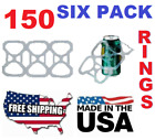 NEW USA 150 Pack Six Pack Ringers for 12 oz Can Beer Soda Liquor Plastic 6 rings