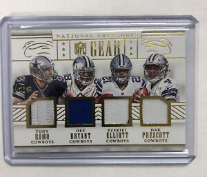 Dorsett Smith Elliott Relic 2016 National Treasures Gear Dallas Cowboys 23/25