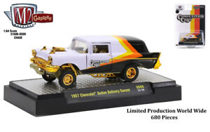 Chase 1957 CHEVROLET SEDAN DELIVERY GASSER 1/64 DIECAST MODEL BY M2 31600-GS09
