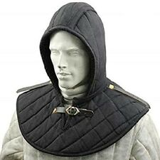 Renaissance Medieval Cotton Padded Armor Collar and Coif Arming Cap Aventail