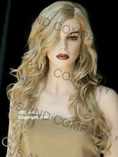 LONG spiral Curly Side Skin top WIG Golden Blonde Mix JSOB 24B613