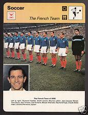 1958 FRANCE WORLD CUP SOCCER Team Photo Armand Penverne+ 1978 SPORTSCASTER CARD