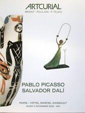 Catalogue vente ARTCURIAL Dessin sculpture Peinture Salvador Dali Pablo Picasso