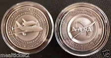 NASA FINAL MISSION SHUTTLE SCA FLOWN METAL  MEDALLION  FROM THE 2 SCA AIRCRAFT