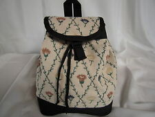 Artisan Treasures Handcrafted Quality Roses & Vines Back-Pack Purse NEW
