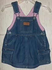 BABY GIRLS OSHKOSH BLUE JEAN JUMPER DRESS  SIZE 6 Months