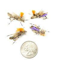 Feth Hopper Foam Grasshopper Fly Terrestrial Trout Flies Purple 4 Flies Size 10