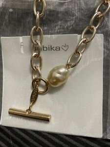 Sabika Jewelry Soft Focus Toggle Pearl Necklace $79 Completely Gone!