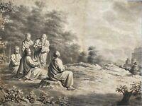 Wohl H.W. Hoogkamer (1790-1864) - Bibilische Szene - Tuschezeichnung - Signiert