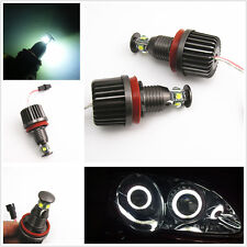 2 Pcs H8 CREE LED 40W Angel Eyes Halo Ring Xenon White Lights Error Free For BMW