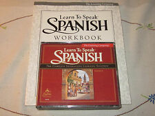 The Learning Company Learn To Speak Spanish 7.0 3-Disc CD-ROM  Workbook Guide