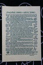 MAGICKAL TREES IN CELTIC LORE A4 INFORMATION SHEET