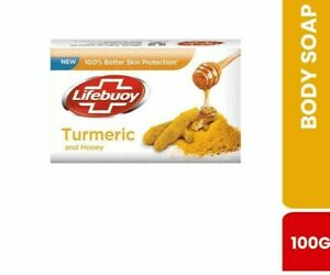 Lifebuoy Turmeric & Honey Body Soap 100g Pure 100% Herbal Natural Ceylon Herbal