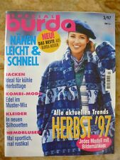 Burda special leicht und schnell Herbst 1997 alle Modelle mit Bildernähkursen