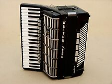Very Nice German Accordion Weltmeister Cantus V 120 bass including case.Cassotto