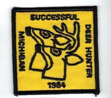 1984 MICHIGAN DNR SUCCESSFUL DEER HUNTER PATCH -BEAR-TURKEY-ELK-MOOSE-FISHING