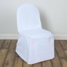 BRAND NEW Polyester Banquet Chair Covers 10 ct - WHITE