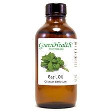 4 fl oz Basil Essential Oil (100% Pure & Natural) - GreenHealth